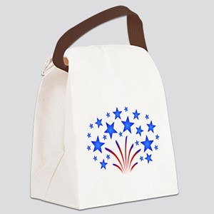 Stars & Stripes 4th of July Canvas Lunch Bag