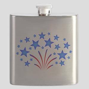 Stars & Stripes 4th of July Flask