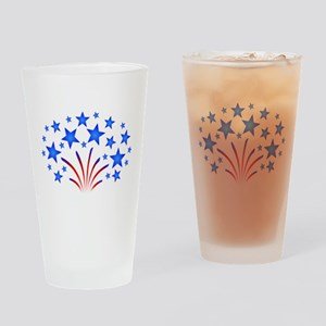 Stars & Stripes 4th of July Drinking Glass