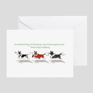 Three Cardigan Corgis Greeting Cards
