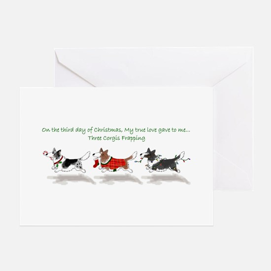 Three Cardigan Corgis Greeting Cards