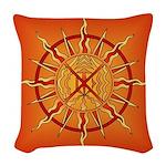 Native Spirit Art Woven Throw Pillow