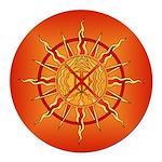 Native Spirit Art Round Car Magnet