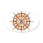 Native Spirit Art Oval Car Magnet