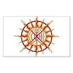Native Spirit Art Sticker (Rectangle 10 pk)