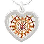 Native Spirit Art Silver Heart Necklace