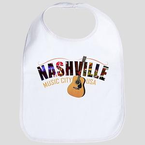 Nashville Music City USA Baby Bib