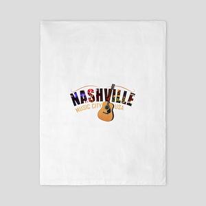 Nashville TN Music City USA Twin Duvet