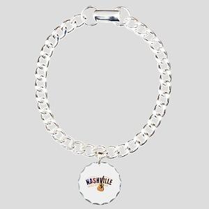 Nashville TN Music City Charm Bracelet, One Charm