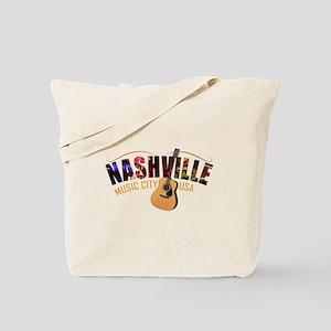 Nashville TN Music City USA Tote Bag