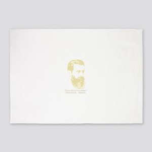 Theodor Herzl - Israel Sketch Quote 5'x7'Area Rug