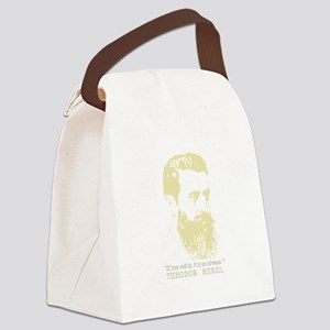 Theodor Herzl - Israel Sketch Quo Canvas Lunch Bag