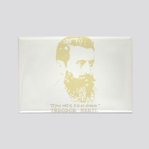 Theodor Herzl - Israel Sketch Quote Magnets