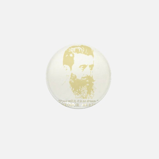 Theodor Herzl - Israel Sketch Quote Mini Button