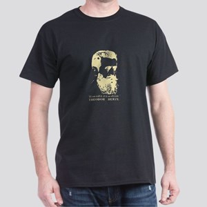 Theodor Herzl - Israel Sketch Quote T-Shirt
