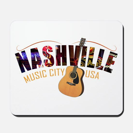 Nashville TN Music City USA Mousepad