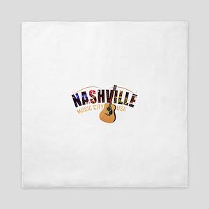 Nashville TN Music City USA Queen Duvet