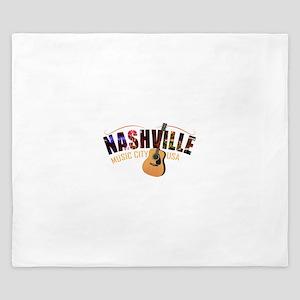 Nashville TN Music City USA King Duvet