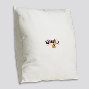 Nashville TN Music City USA Burlap Throw Pillow