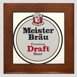 Meister Brau Beer Round logo Framed Tile