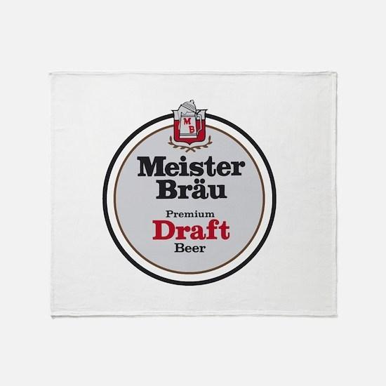 Meister Brau Beer Round logo Throw Blanket