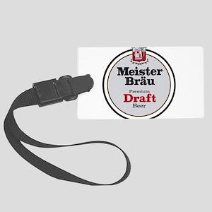 Meister Brau Beer Round logo Large Luggage Tag