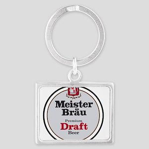 Meister Brau Beer Round logo Keychains