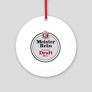 Meister Brau Beer Round logo Round Ornament