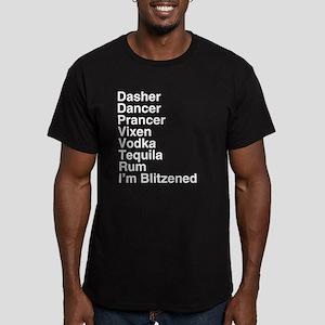 Santa's Speed Rack Men's Fitted T-Shirt (dark)