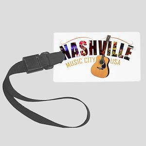 Nashville TN Music City USA Large Luggage Tag