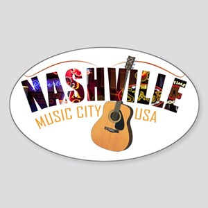 Nashville TN Music City USA Sticker
