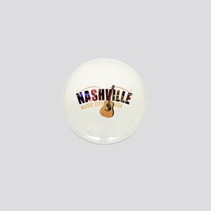 Nashville TN Music City USA Mini Button