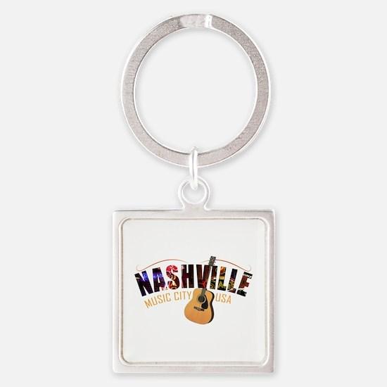 Nashville TN Music City USA Keychains