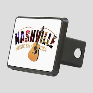 Nashville TN Music City US Rectangular Hitch Cover