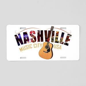 Nashville TN Music City USA Aluminum License Plate