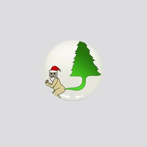 Tackiest Christmas Shirt Santa Farts a Mini Button