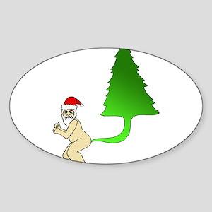Tackiest Christmas Shirt Santa Farts a Tre Sticker