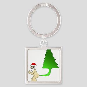Tackiest Christmas Shirt Santa Farts a T Keychains