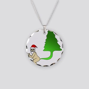 Tackiest Christmas Shirt San Necklace Circle Charm