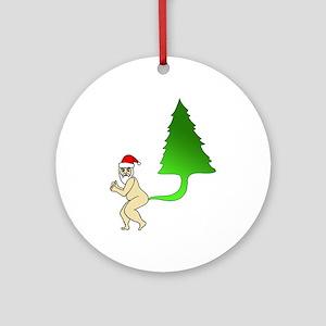 Tackiest Christmas Shirt Santa Fart Round Ornament