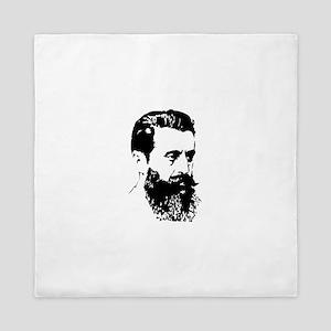 Theodor Herzl - Israel Sketch Queen Duvet
