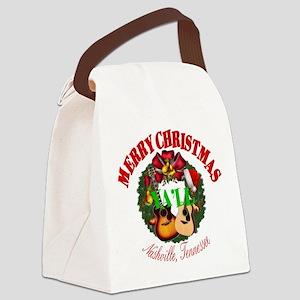 Nashville Merry Christmas Ya' Canvas Lunch Bag