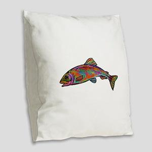 COLORS Burlap Throw Pillow