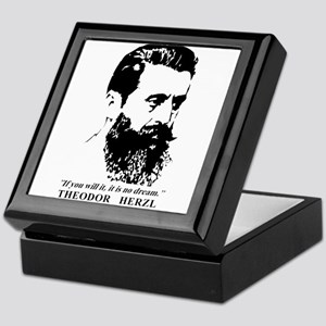 Theodor Herzl - Israel Quote Keepsake Box