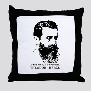Theodor Herzl - Israel Quote Throw Pillow