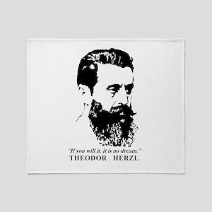 Theodor Herzl - Israel Quote Throw Blanket