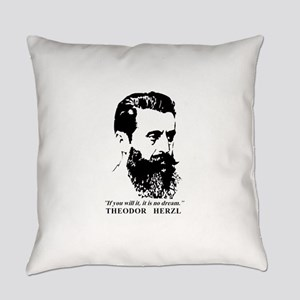 Theodor Herzl - Israel Quote Everyday Pillow