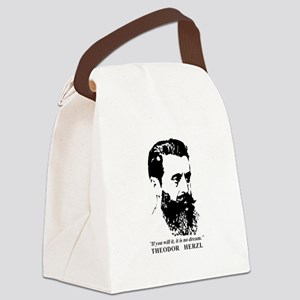 Theodor Herzl - Israel Quote Canvas Lunch Bag