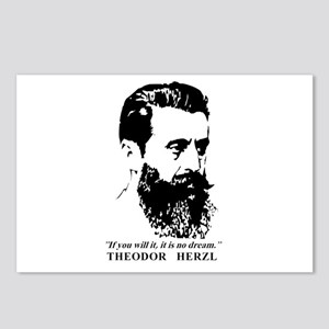 Theodor Herzl - Israel Qu Postcards (Package of 8)