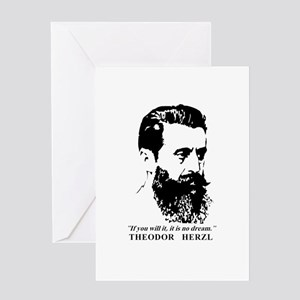 Theodor Herzl - Israel Quote Greeting Cards